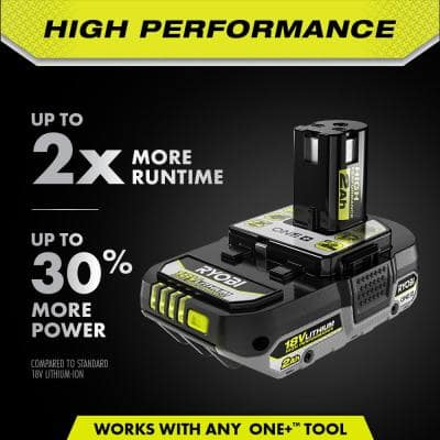 ONE+ 18V High Performance Lithium-Ion 2.0 Ah Compact Battery (2-Pack)