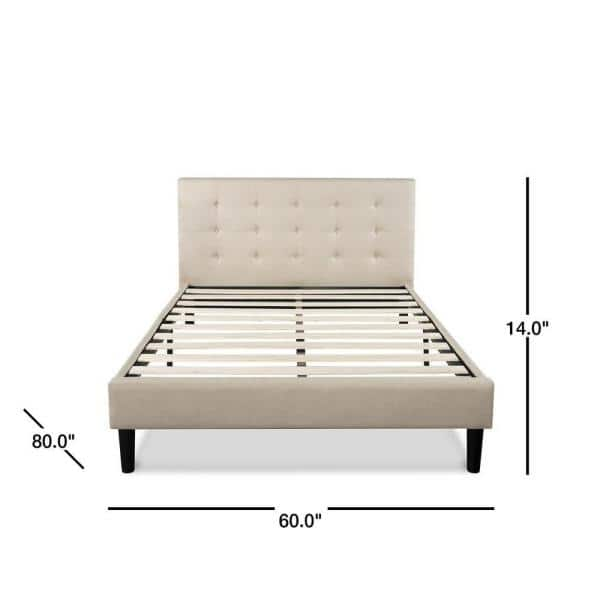 Zinus Ibidun Upholstered On Tufted, Zinus Misty Upholstered Modern Classic Tufted Platform Bed Queen