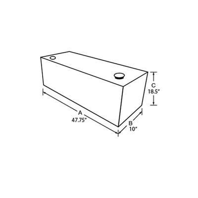 50 Gal. Aluminum Vertical Liquid Storage Transfer Tank, Black