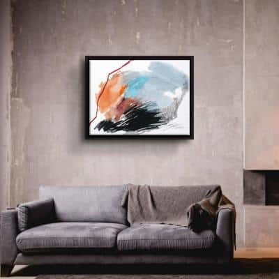 'Remote Island no. 1' by Ying guo Framed Canvas Wall Art