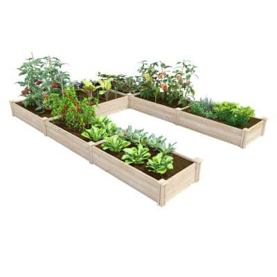 8 ft. x 12 ft. x 10.5 in. Original Pine U-Shaped Raised Garden Bed