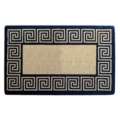 30 in. x 48 in. Greek Key Heavy Duty Coco Plain Door Mat