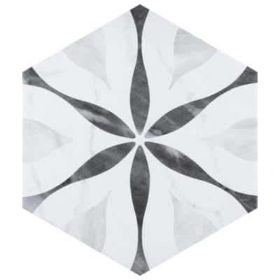 Classico Bardiglio Hexagon Flower 7 in. x 8 in. Porcelain Floor and Wall Tile (80 Cases/613.6 sq. ft./Pallet)