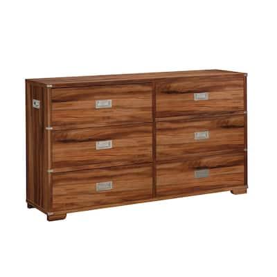 Vista Key 6-Drawer Blaze Acacia Dresser 33 in.H x 59 in.W x 15 in.D