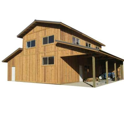 44 ft. x 40 ft. x 18 ft. Wood Garage Kit without Floor