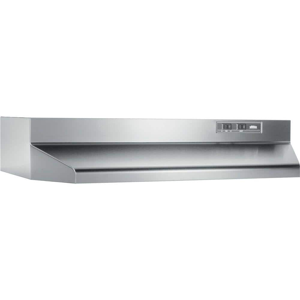 42000 Series 42 in. Under Cabinet Range Hood with Light in Stainless Steel