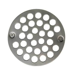 Brushed Nickel All Brass Construction Shower Drain Cover 4-1//4 inches outside diameter