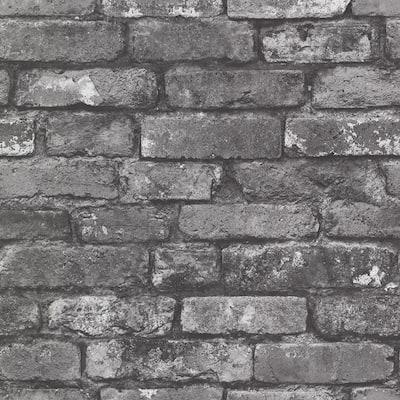 Brickwork Slate Exposed Brick Slate Wallpaper Sample