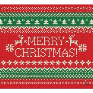 7 ft. x 8 ft. Ugly Christmas Sweater Merry Christmas-Christmas Garage Door Decor Mural for Single Car Garage