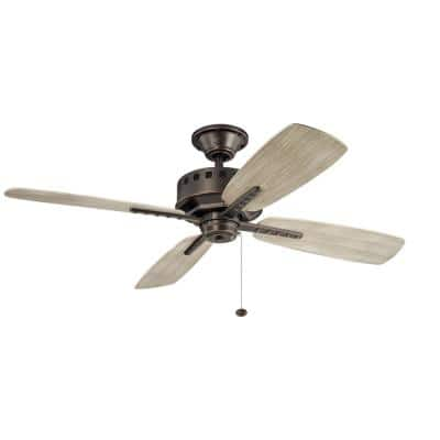 Eads Patio 52 in. Indoor/Outdoor Olde Bronze Downrod Mount Ceiling Fan with Wall Control