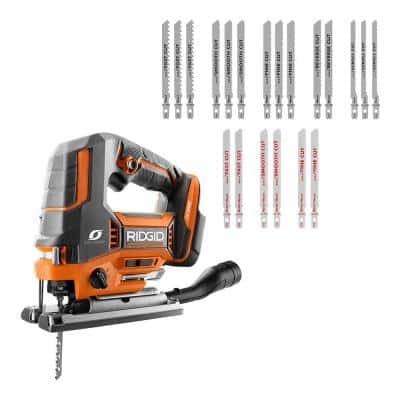 18V OCTANE Brushless Cordless Jig Saw (Tool Only) withAll Purpose Jig Saw Blade Set (20-Piece)