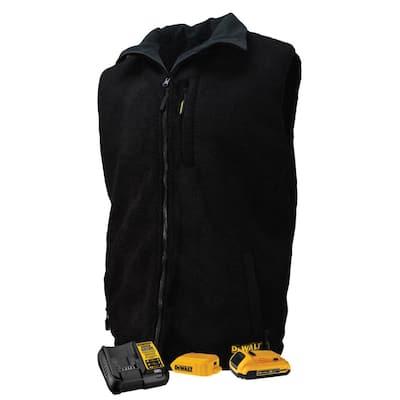 Men's Size 3X Black Heated Reversible Vest Kitted