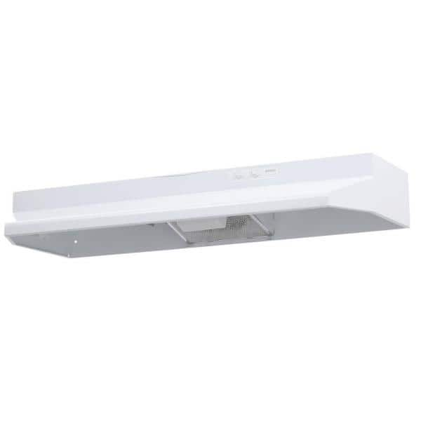 Broan Nutone 40000 Series 42 In Under Cabinet Range Hood With Light In White 404201 The Home Depot
