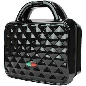 Couture Purse Black Nonstick Dual Waffle Maker