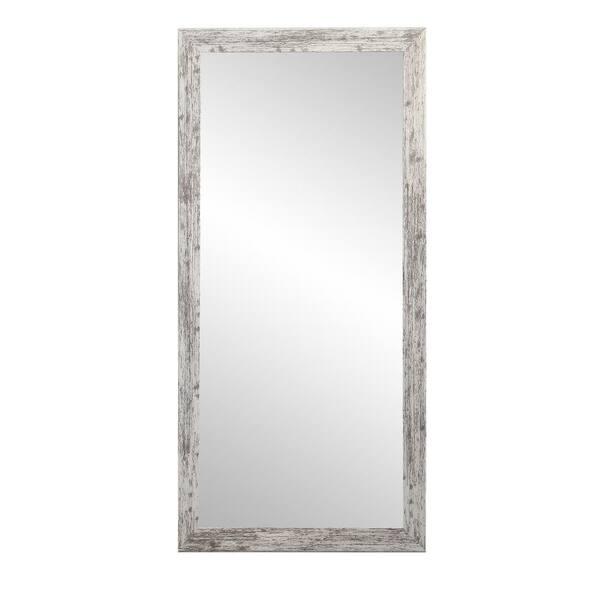 Brandtworks Oversized White Gray, Oversized White Leaner Mirror