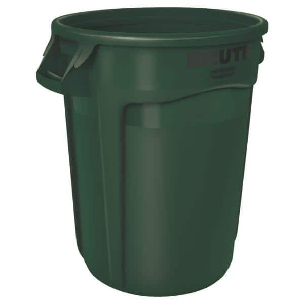 32-gallon Single-Stream Recycling Lid Green Rubbermaid Commercial 1788471 BRUTE Heavy-Duty Round Waste//Utility Container