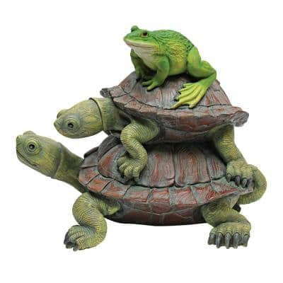 8.5 in. H in Good Company Frog and Turtles Garden Statue