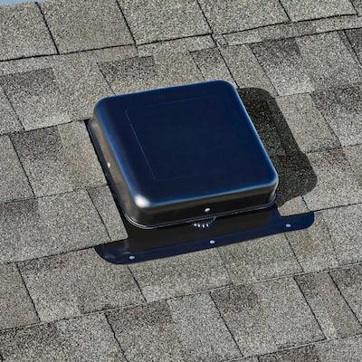 50 sq. in. NFA Aluminum Square-Top Roof Static Vent in Black