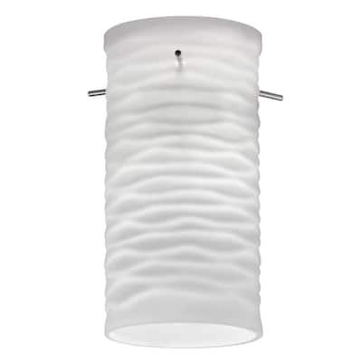 Cylinder Wave Glass Shade for LED Mini Pendant
