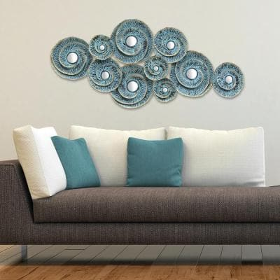Decorative Waves Metal Wall Decor