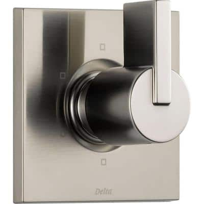 Vero 1-Handle 6-Setting Diverter Valve Trim Kit in Stainless (Rough In Not Included) (Valve Not Included)
