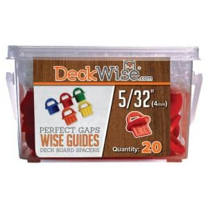 WiseGuides 5/32 in. Gap Deck Board Spacer for Hidden Deck Fasteners (20-Count)