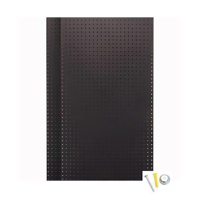 24 in. H x 42 in. W Pegboard 2-Pack Black High-Density Fiberboard