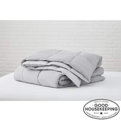 Gray Reversible Microfiber Twin Comforter