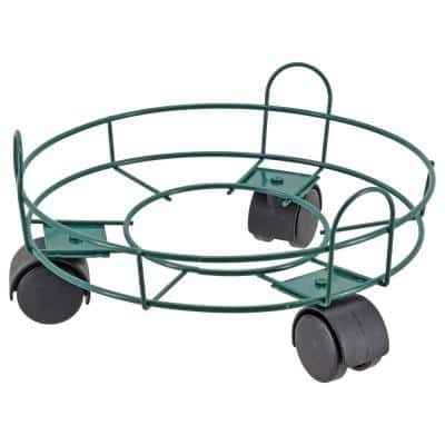 10 in. Green Metal Basic Plant Caddy
