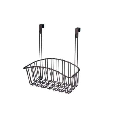 Contempo 10.5 in. W x 6.375 in. D x 14 in. H Over the Cabinet Medium Basket in Bronze