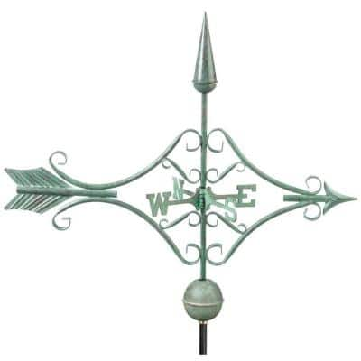 Victorian Arrow Weathervane - Blue Verde Copper
