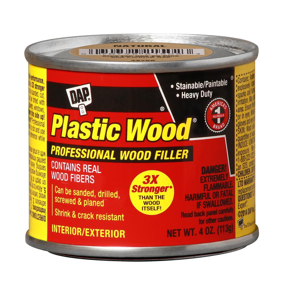 Plastic Wood 4 oz. Natural Solvent Wood Filler