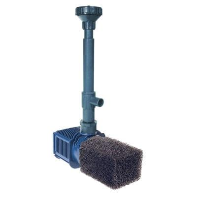 Pro Series 594-GPH Submersible Pond and Water Garden Pump with Fittings, Spray Nozzles