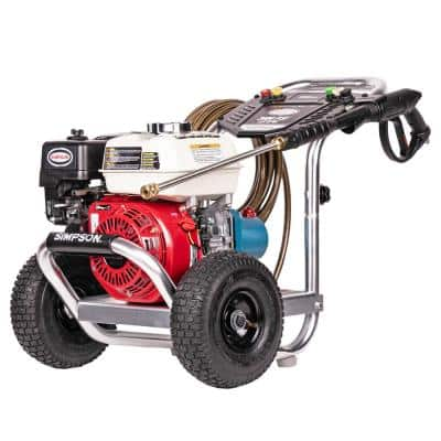 Aluminum ALH3228-S 3400 PSI at 2.5 GPM HONDA GX200 Cold Water Pressure Washer