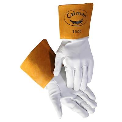 Large Pearl Goatskin Tig Welding Unlined Gloves