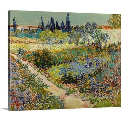 """30 in. x 24 in. """"Garden At Arles, 1888"""" by  Vincent (1853-1890) van Gogh Canvas Wall Art"""