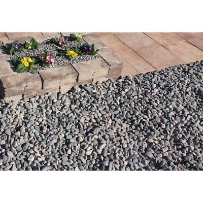 10 cu. ft. Medium River Rock Assorted Decorative Stone - (1 Bag/10 cu. ft./Pallet)