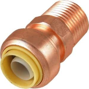 1/2 in. Push-to-Connect x MIP Copper Adapter Fitting
