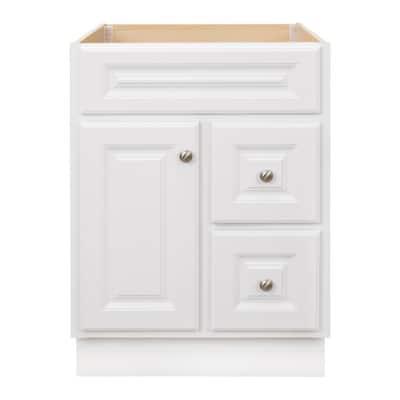 Hampton 24 in. W x 21 in. D x 33.5 in. H Bathroom Vanity Cabinet Only in White