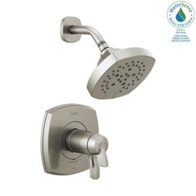 Stryke TempAssure 1-Handle Wall Mount 5-Spray Shower Faucet Trim Kit in Stainless (Valve Not Included)