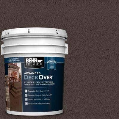 5 gal. #SC-103 Coffee Textured Solid Color Exterior Wood and Concrete Coating