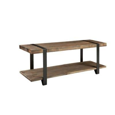 Modesto Rustic Natural Storage Bench
