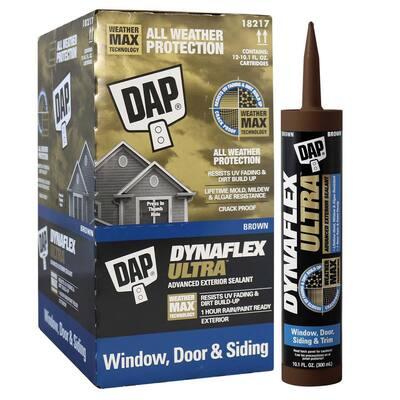 Dynaflex Ultra 10.1 oz. Brown Advanced Exterior Window, Door and Siding Sealant (12-Pack)