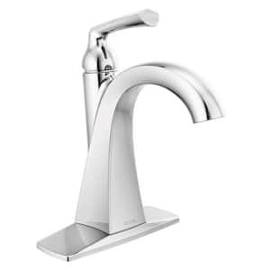 Pierce Single Hole Single-Handle Bathroom Faucet in Chrome