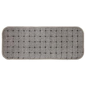 Pindot Grey 9 in. x 24 in. Stair Tread Cover