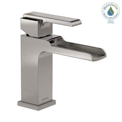 Ara 4 in. Centerset Single-Handle Bathroom Faucet with Channel Spout in Stainless