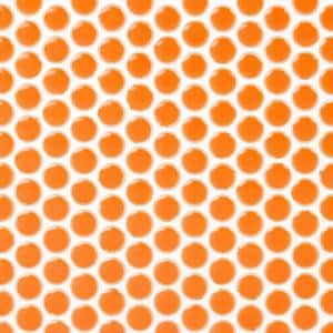 Bliss Edged Penny Round Mango 12 in. x 12 in. x 10 mm Polished Ceramic Mosaic Tile