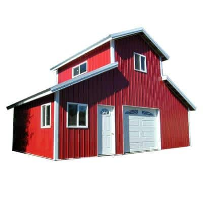 32 ft. x 18 ft. x 18 ft. Wood Garage Kit without Floor