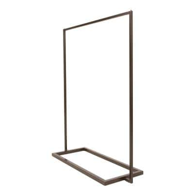 Linea Statuary Bronze Metal Free Standing Clothes Rack (54 in. W x 66 in. H)