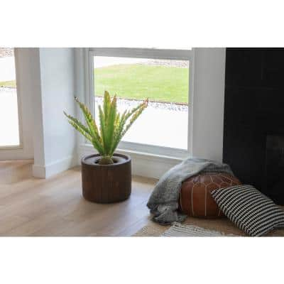 2.96 ft. Tall Artificial Faux Real Touch Real Touch Agava with Fiberstone Planter
